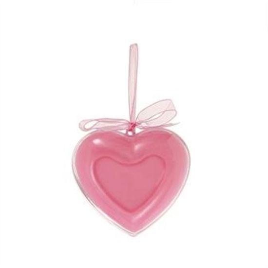 Coração Base com Fita Rosa Claro (Enfeites) - 2 Unidades