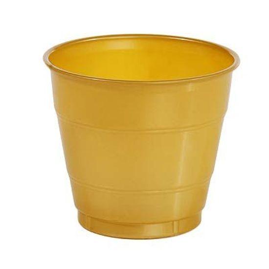 FL - Copo Plástico 266ml Colorline Ouro 10 unidades