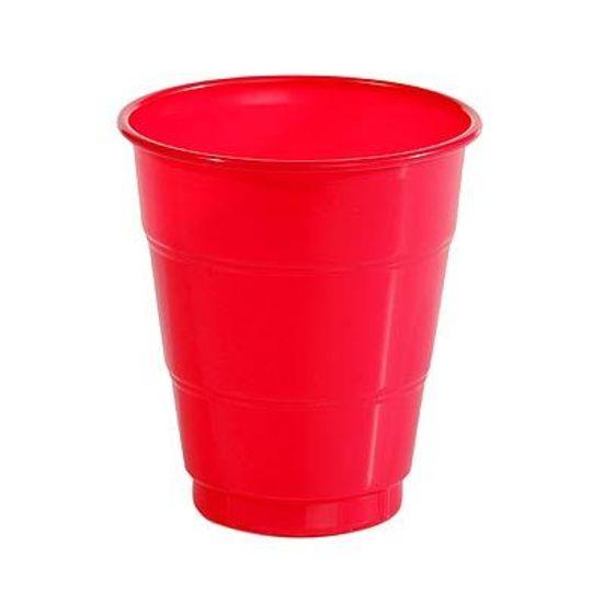 Copo Plástico 210ml Happy Line Vermelho - 10 Un