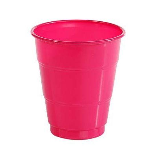 Copo Plástico 210ml Happy Line Pink - 10 unidades