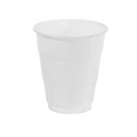 Copo Plástico 210ml Happy Line Branco - 10 Un