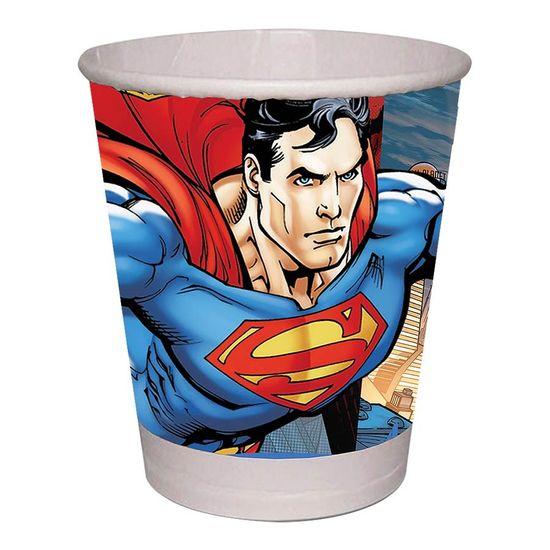 Festa Super Homem - Copo de Papel Superman - 08 unidades Copo de Papel Superman - 08 unidades