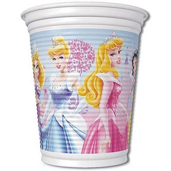 Festa Princesas Disney - Copo Descartável Princesas Glamour 08 unidades FL - Copo Descartável Princesas Glamour 08 unidades