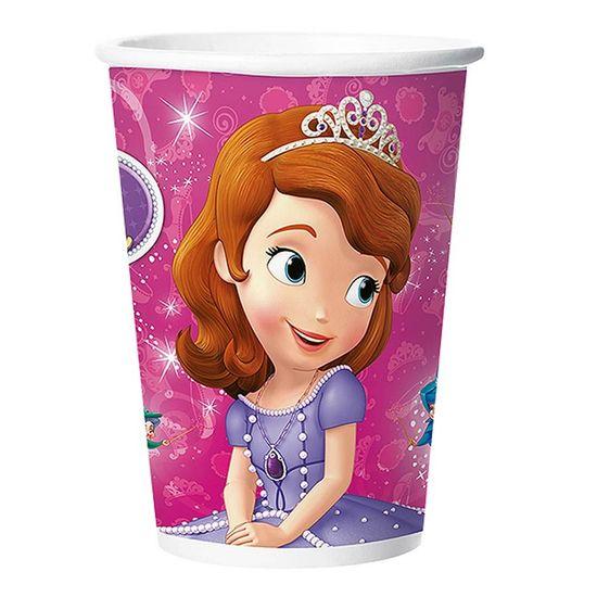 Festa Princesa Sofia - Copo de Papel Princesa Sofia - 08 unidades Copo de Papel Princesa Sofia - 08 unidades