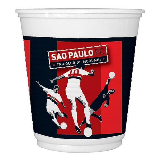 Festa Festa São Paulo FC - Copo Descartável São Paulo F.C. - 08 unidades FL - Copo Descartável São Paulo F.C. - 08 unidades