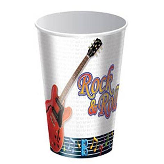 FL - Copo Descartável Festa Rock and Roll - 08 unidades