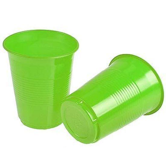 Copo Descartável Color 200ml Verde Claro - 50 unidades