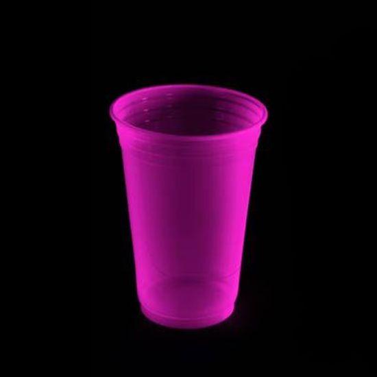 Copo Descartável Balada 300ml Neon ROSA - 25 Un