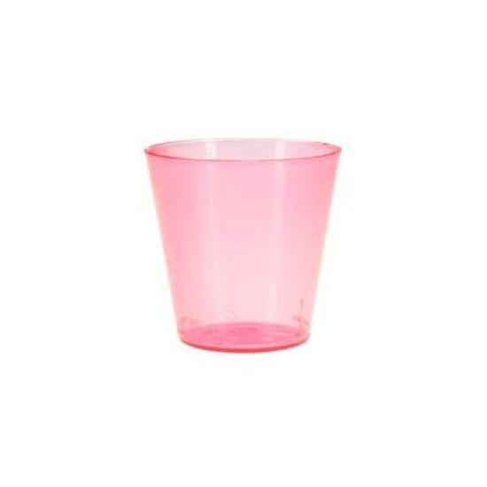 Copinho Acrílico para Doces 25ml Pink - 10 unidades
