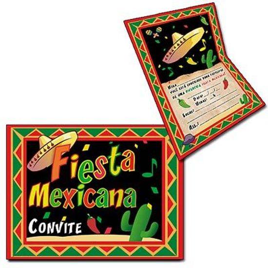 Convite Especial Festa Mexicana - 08 unidades