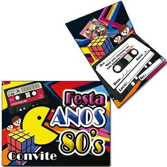 Convite Especial Anos 80 - 08 unidades