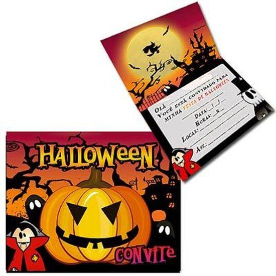 Convite Especial Halloween Abóbora - 08 unidades