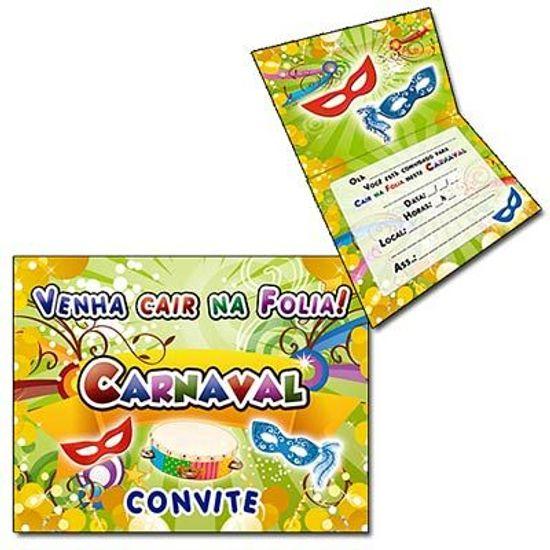 Convite Especial Folia de Carnaval - 08 unidades