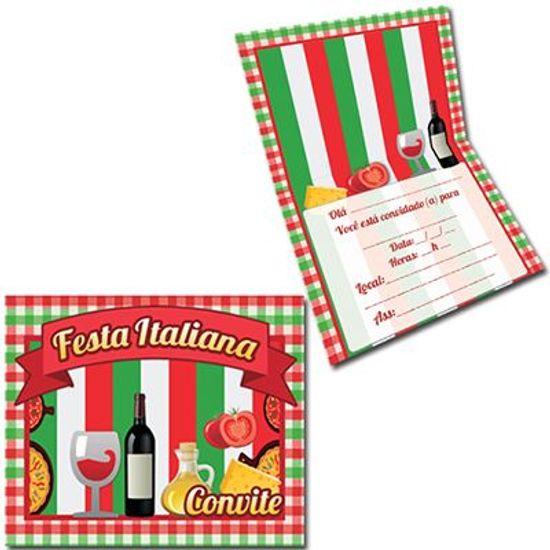 Convite Especial Festa Italiana - 08 unidades