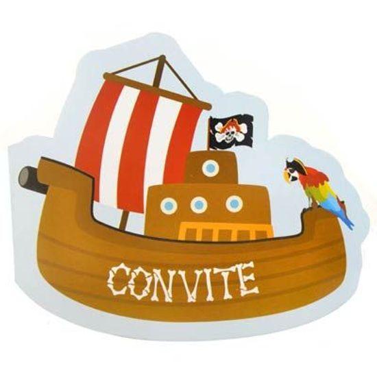 FL - Convite Duster Barco do Pirata 08 unidades
