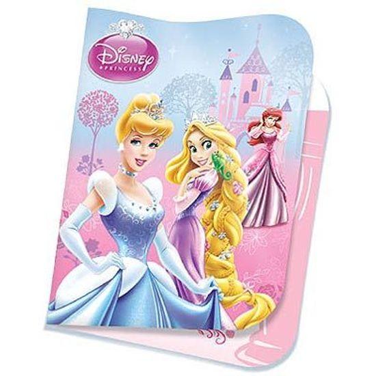 Festa Princesas Disney - Convite de Aniversário Princesas Glamour 08 unidades FL - Convite de Aniversário Princesas Glamour 08 unidades