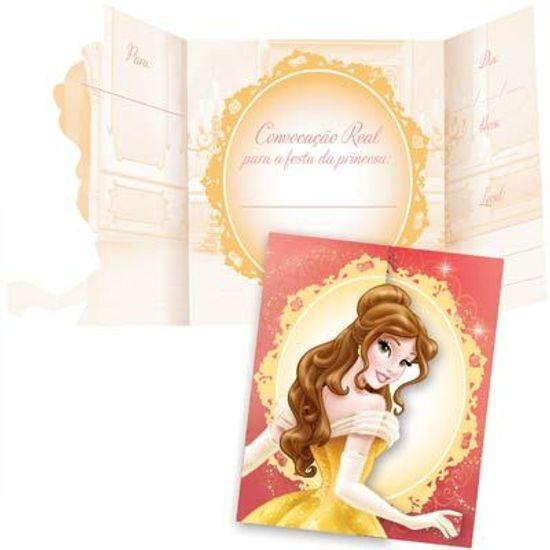 FL - Convite de Aniversário Princesa Bela - 08 unidades