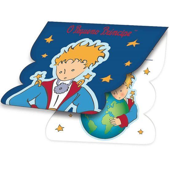 Festa O Pequeno Príncipe - Convite de Aniversário O Pequeno Príncipe Clássico - 08 unidades Convite de Aniversário O Pequeno Príncipe Clássico - 08 unidades