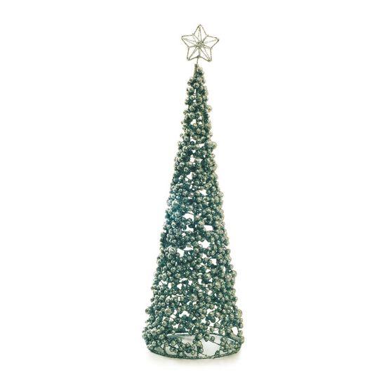 Árvore Formato Cone com Estrela Prata Tamanho G (Marrocos)  - 1 Unidade