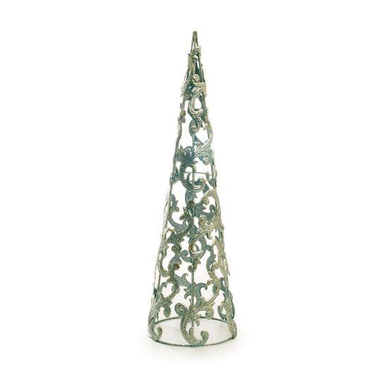 Árvore Cone Arabesco Prata Tamanho P (Marrocos)  - 1 Unidade