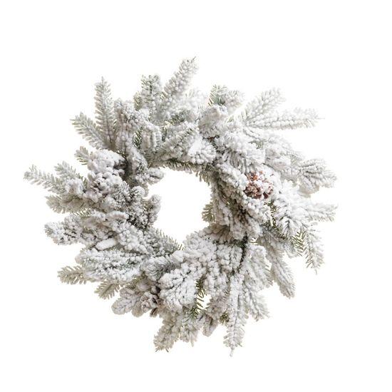 Guirlanda de Natal Nevada Branco e Verde (Guirlanda de Natal Decoradas) - 1 Unidade