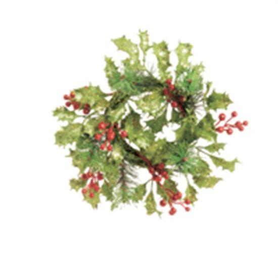 Mini Guirlanda de Natal com Folhas Verde e Vermelho (Mini Guirlanda de Natal) - 2 Unidades