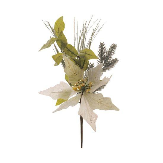 Poinsettia Branca (Flores Cabo Curto)  - 10 Unidades