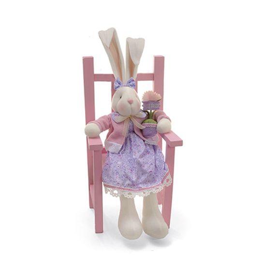 Cromus - Coelha Sentada Rosa Claro ( Donut ) - 1 Unidade
