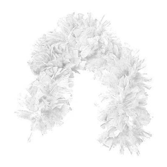 Boá de Plumas e Penas Estola - Branco