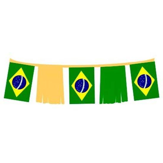 Bandeirão Plástico de Franja Bandeira do Brasil - 06 metros