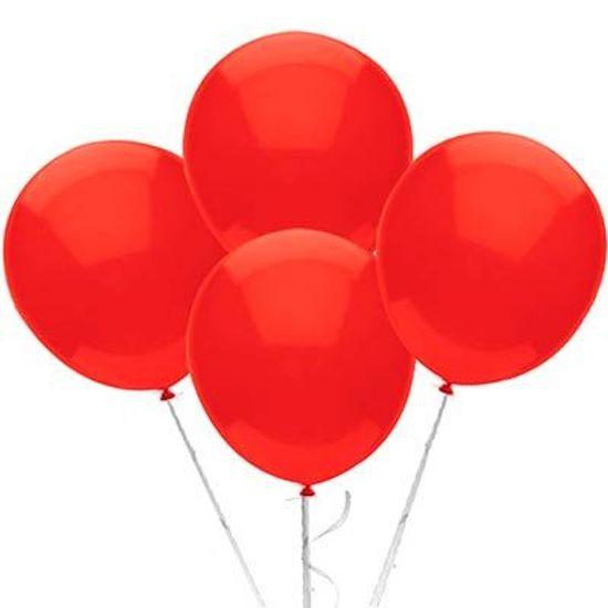 Balão TRADICIONAL nº 9 Liso Vermelho - 50 unidades