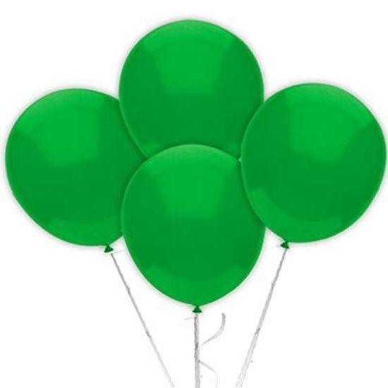 Balão TRADICIONAL nº 7 Liso Verde Escuro - 50 Un