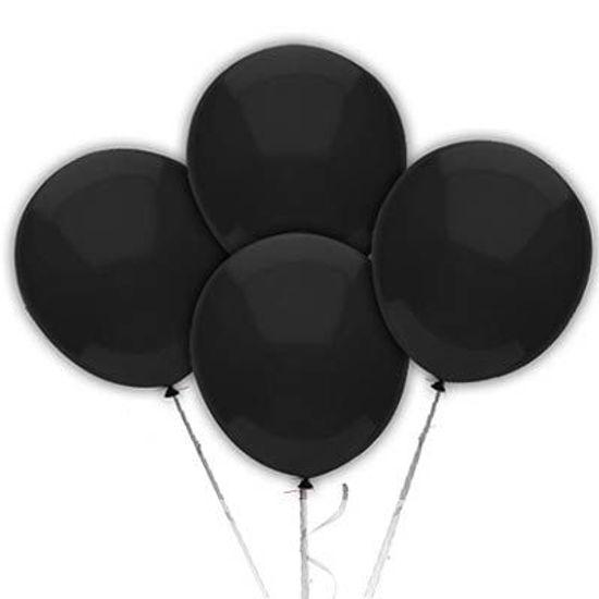 Balão TRADICIONAL nº 7 Liso Preto - 50 unidades