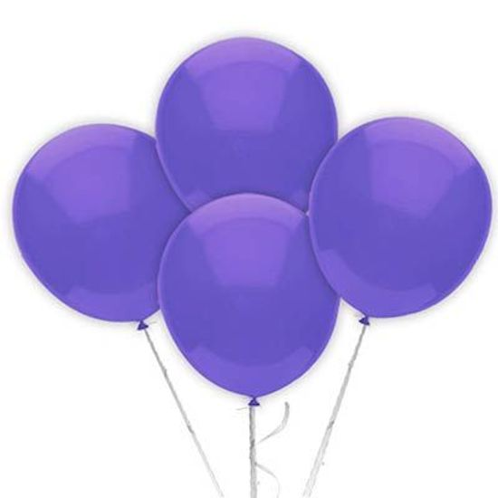 Balão TRADICIONAL nº 7 Liso Lilás - 50 Un