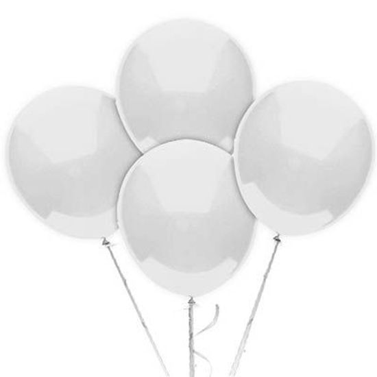 Balão TRADICIONAL nº 7 Liso Branco - 50 unidades