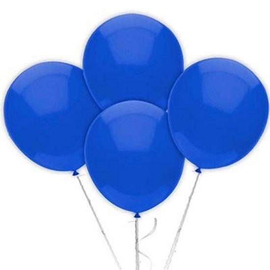 Balão TRADICIONAL nº 7 Liso Azul Escuro - 50 unidades