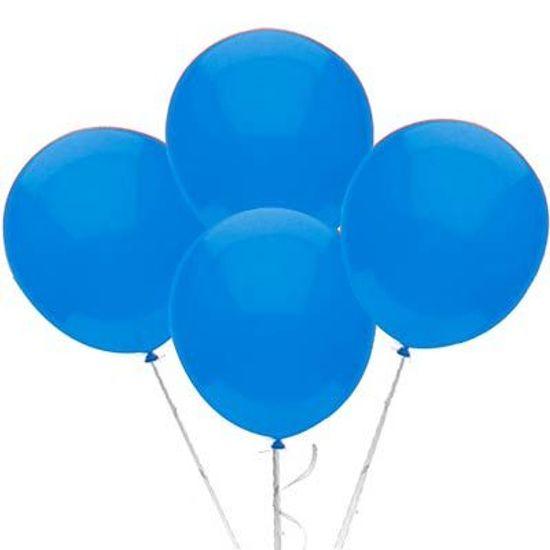 Balão TRADICIONAL nº 9 Liso Azul Claro - 50 Un