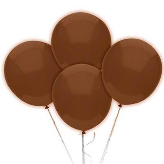 Balão TRADICIONAL nº 7 Liso Marrom - 50 unidades