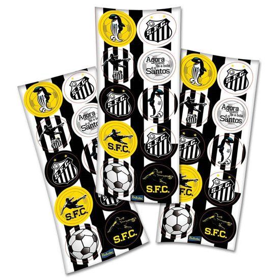 Adesivo Redondo Santos F.C. - 03 cartelas