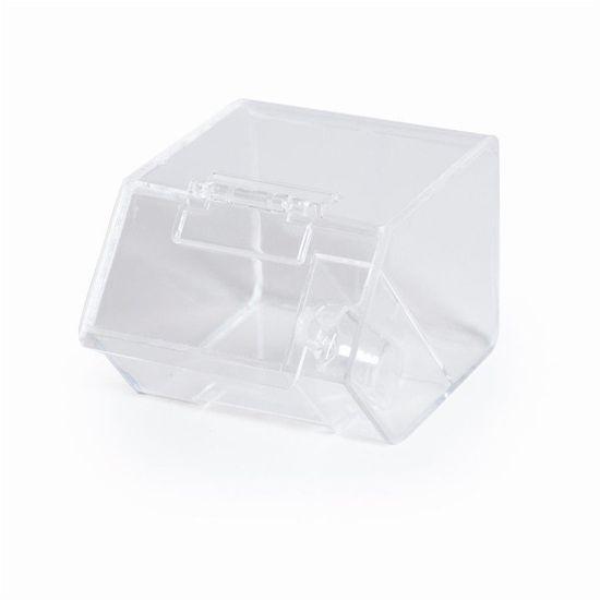 Mini Porta Doces A Granel Transparente Preto - 8 Un