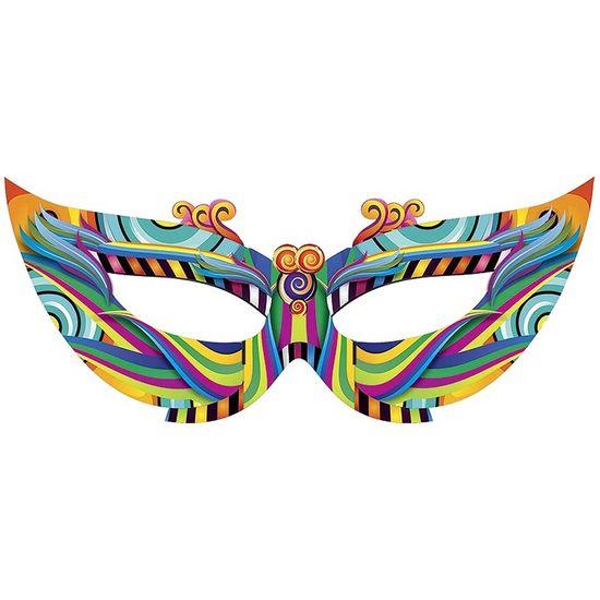 Máscara de Carnaval Gigante Cartonada para Decoração de Salão