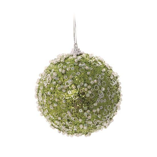 Bola Açucarada Verde Claro 10 cm (Bolas)  - 1  Jogo com 4 Peças
