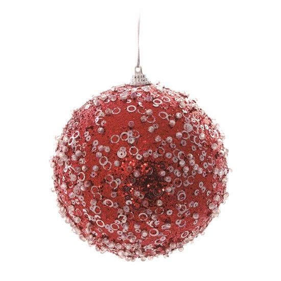 Bola Açucarada Vermelho 12 cm (Bolas)  - 1  Jogo com 2 Peças