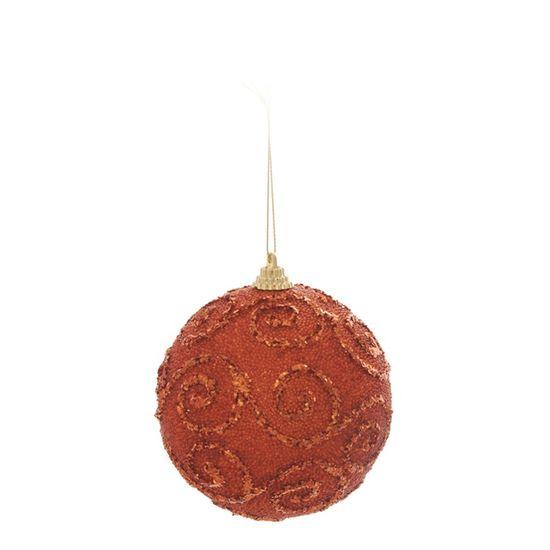 Bola de Natal com Caracois Cobre 8cm (Bolas) - Jogo com 6 Peças