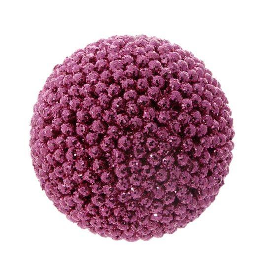 Bola de Natal Crunch Rosa 6cm (Bolas) - Jogo com 6 Peças