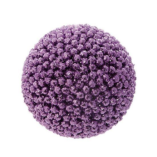 Bola de Natal Crunch Roxo 8cm (Bolas) - Jogo com 6 Peças
