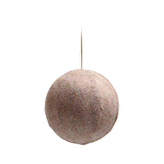 Bola de Natal de Juta Rosa Claro 10cm (Bolas) - 1 Unidade