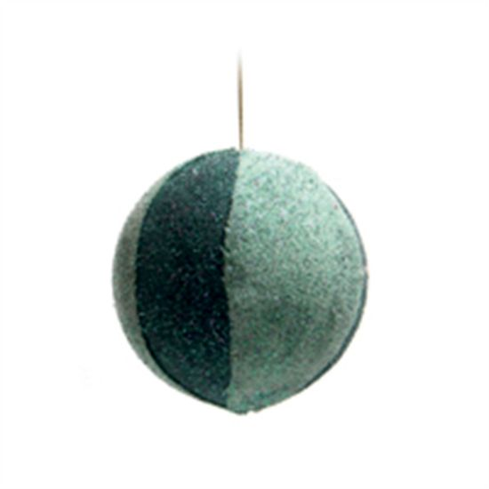 Bola de Natal de Juta Verde e Verde 10cm (Bolas) - 3 Unidades