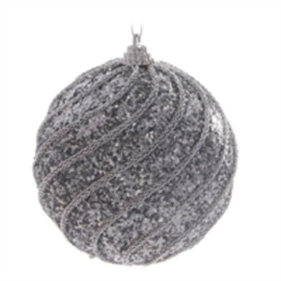 Bola Prata 10 cm (Bolas)  - 1  Jogo com 6 Peças