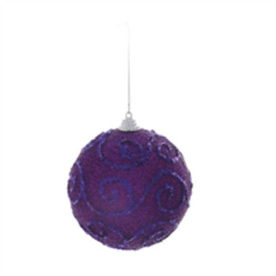 Bola de Natal Espiral Roxo 10cm (Bolas) - Jogo com 6 Peças